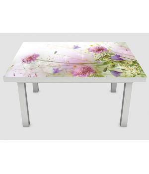 Наклейка на стол Цветущий клевер, 60х120 см