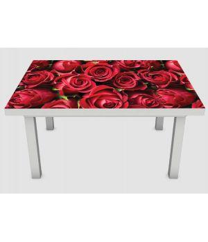Наклейка на стіл Бутони троянд 01, 60х120 см