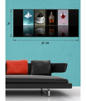 Картина на холсте 21х50 см Напитки