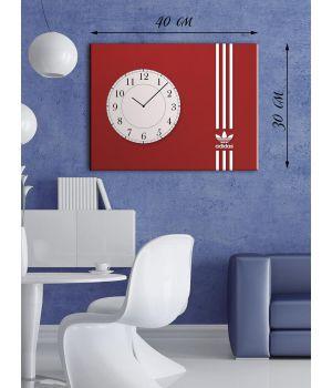 Часы-картина 30х40 на холсте Эмблема Adidas