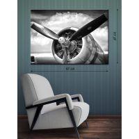 Картина на холсте 48х68 Винт самолета