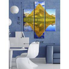 Модульная картина на холсте Зеркальный остров