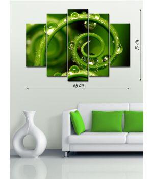 Модульная картина на холсте Зеленый лабиринт