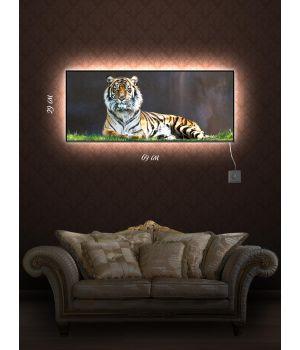 Картина с подсветкой 29х69 Тигриная территория