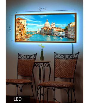 LED Картина Венеция на воде