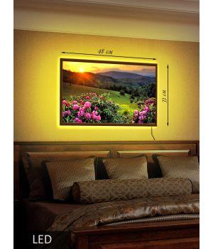 LED Картина Закат за гору