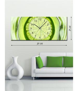 Часы-картина 21х50 на холсте Экзотик