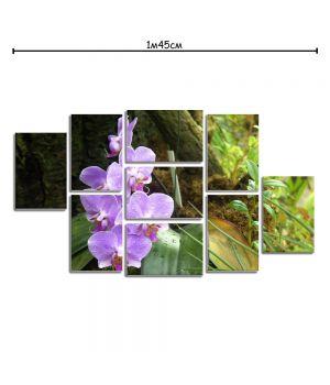 Модульная картина на холсте с принтом Орхидея