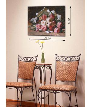 Картина на холсте 30х40 Букет роз