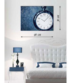 Часы-картина 30х40 на холсте Карманные часы