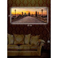 Картина с подсветкой 29х69 По городской мостовой