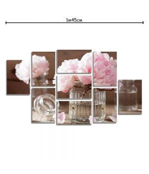 Модульная картина на холсте с принтом Цветы пионы