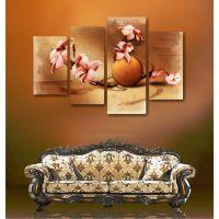 Ветка с цветами в стиле акварель