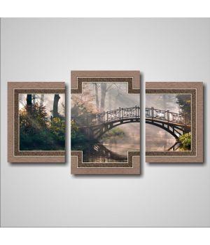 Романтический мост в лесу