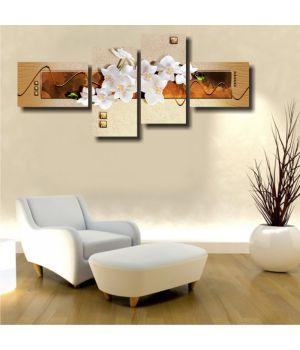 Белые орхидеи и беж