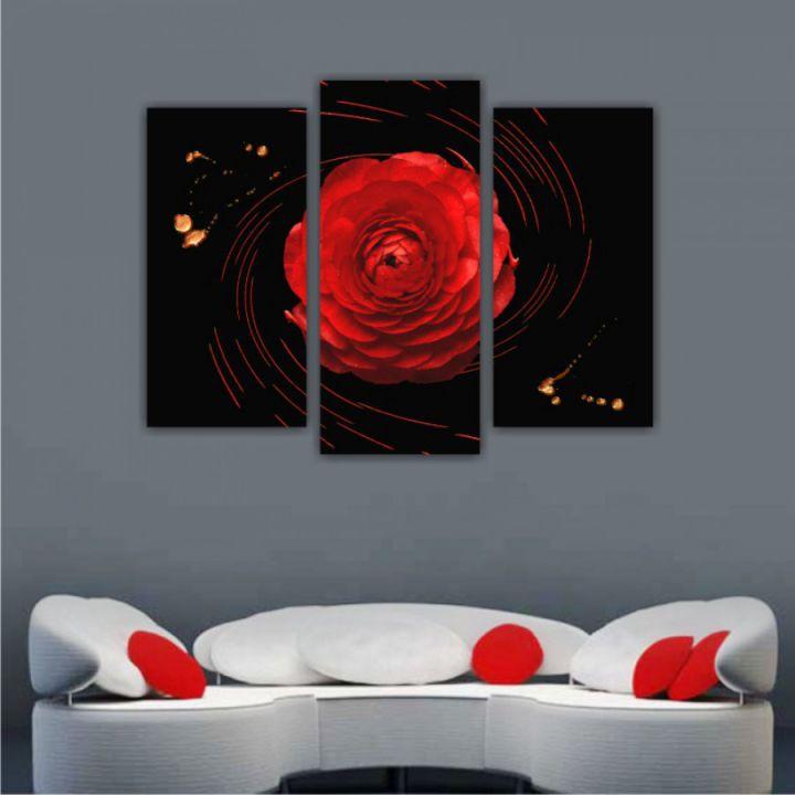Модульная картина 1 красная роза