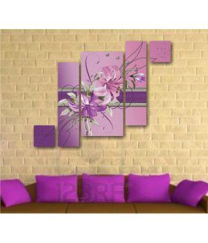 Фиолетовые лилии