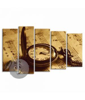 Картина Часы и ноты
