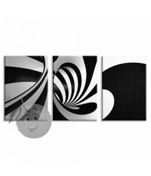 Картина Черно-белая спираль
