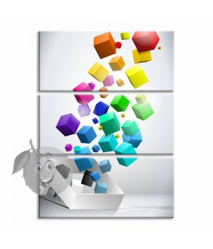 Картина Цветные кубики