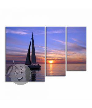 Картина Яхта на закате