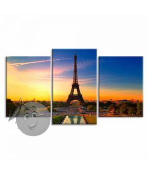 Картина Эйфелева башня на закате