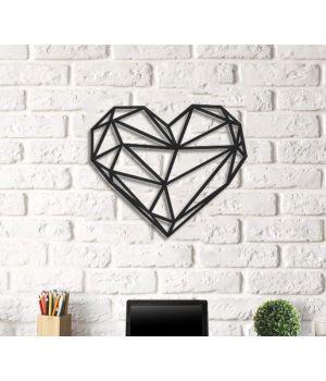 Об'ємна 3D картина з дерева Серце DC1605252, 60х69 см