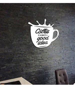 Объемная 3D картина из дерева Кофе - хорошая идея DC1605322, 55х55 см