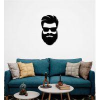 30x57 см, объемная 3D картина из дерева BeardMan