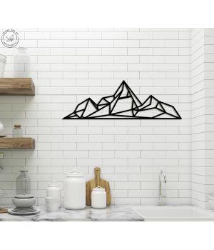 50x12 см, объемная 3D картина из дерева Mountain