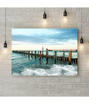 Картина на холсте Морской пирс, 50х35 см