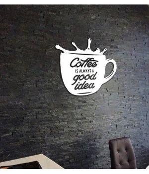 Объемная 3D картина из дерева Кофе - хорошая идея DC1605323, 73х73 см