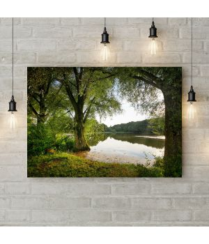 Картина на холсте Озеро в лесу, 50х35 см