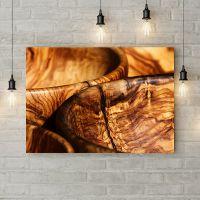 Картина на холсте Деревянная чаша, 50х35 см