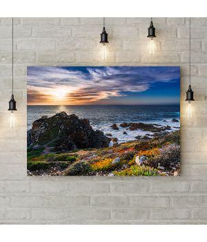 Картина на холсте Океанское побережье, 50х35 см