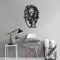 40x55 см, объемная 3D картина из дерева Lion Walk
