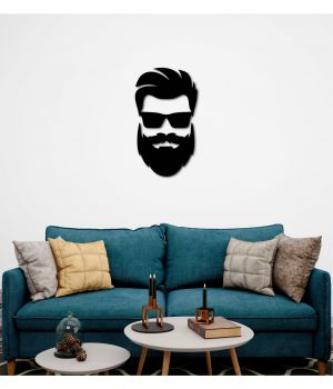 50x95 см, объемная 3D картина из дерева BeardMan