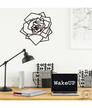90x90 см, объемная 3D картина из дерева Роза