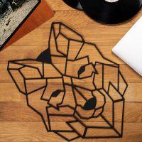 90x101 см, объемная 3D картина из дерева Волк