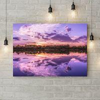 Картина на холсте Фиолетовый закат, 50х35 см