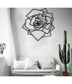 Объемная 3D картина из дерева Роза DC1605316, 69х69 см