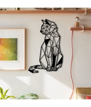 30x47 см, объемная 3D картина из дерева Cat Look