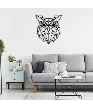 40x45 см, объемная 3D картина из дерева Сова