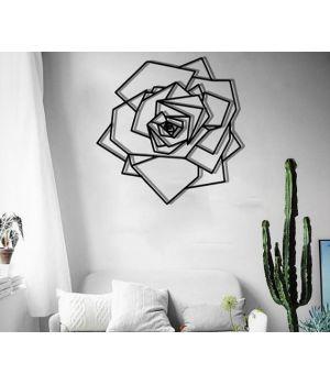 Объемная 3D картина из дерева Роза DC1605317, 76х76 см