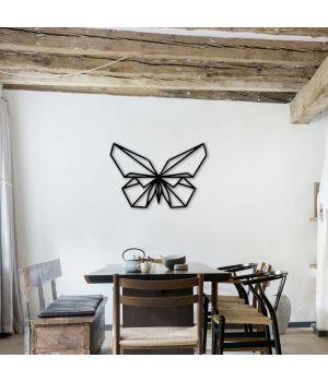 100x68 см, об'ємна 3D картина з дерева Метелик