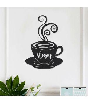 70x98 см, объемная 3D картина из дерева Чашка кофе