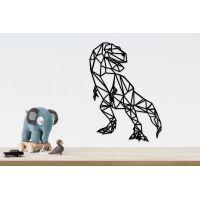 70x103 см, объемная 3D картина из дерева Тиранозавр