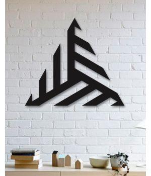 60x52 см, объемная 3D картина из дерева Абстрактный треугольник