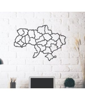 Об'ємна 3D картина з дерева Карта України DC1605228, 100х60 см