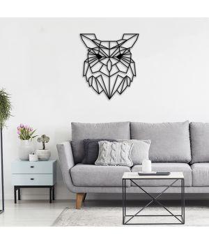75x83 см, объемная 3D картина из дерева Сова